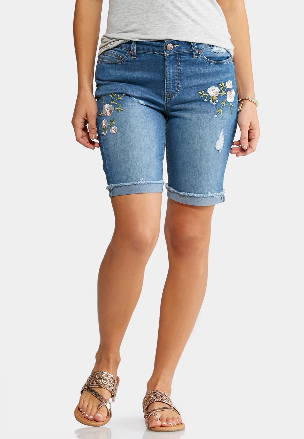 Bermuda Shorts embroidered denim bermuda shorts TWIGSMQ