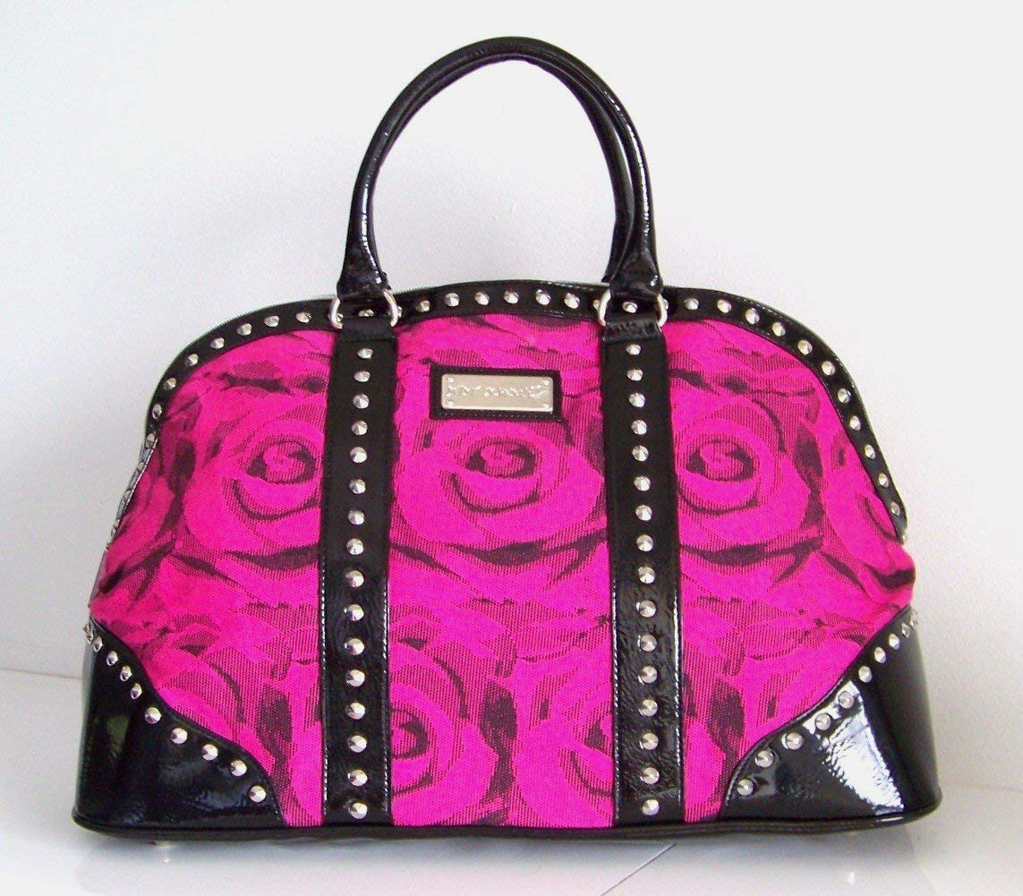 betseyville bags amazon.com: betsey johnson betseyville handbag pink fuchsia rose travel  weekender tote gym duffle bag: CWTJIEB