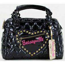betseyville bags #betseyville black u0027be mineu0027 satchel XOOYQAU