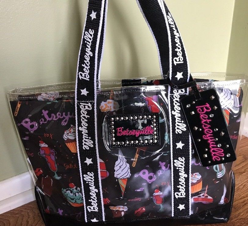 betseyville bags betseyville clear carrying tote bag by betsey johnson  RMILMFR