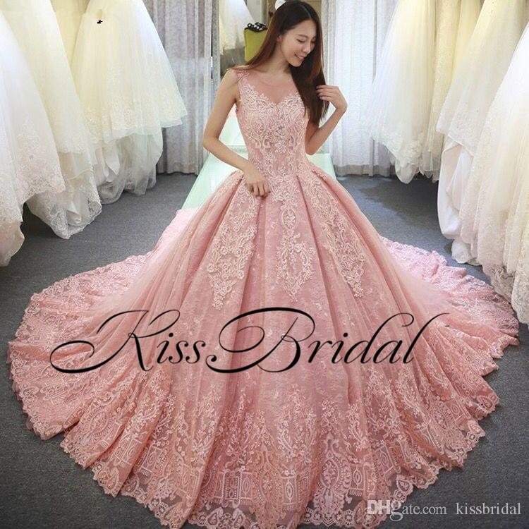 big ball gown color wedding dresses vintage full lace arabic dubai princess  bridal gowns XPKTVKW