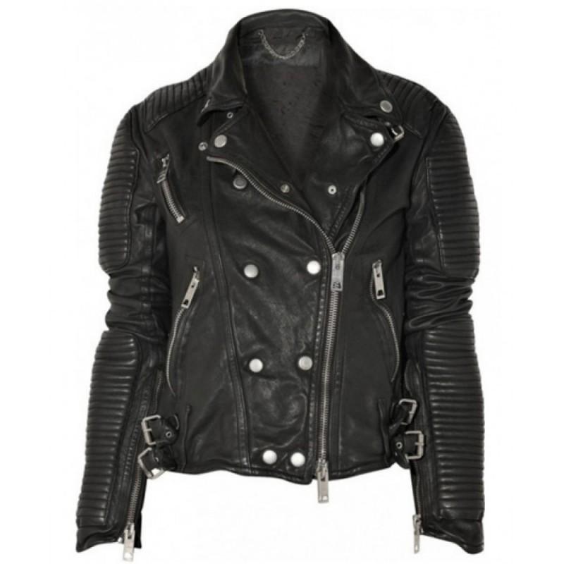 biker leather jackets burberry prorsum black biker leather jacket XRKWMAD