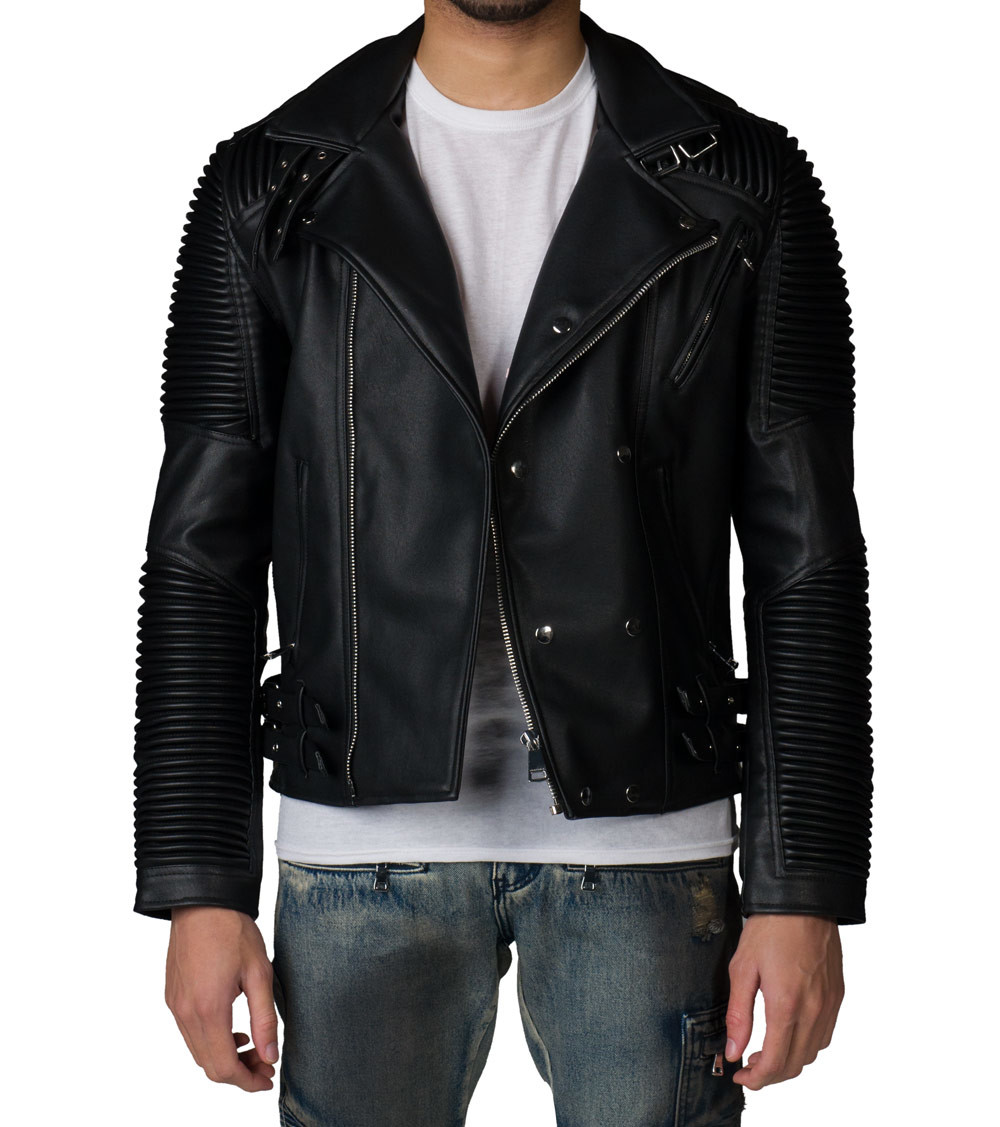 biker leather jackets ... decibel; biker leather jacket. x YVMNUGJ