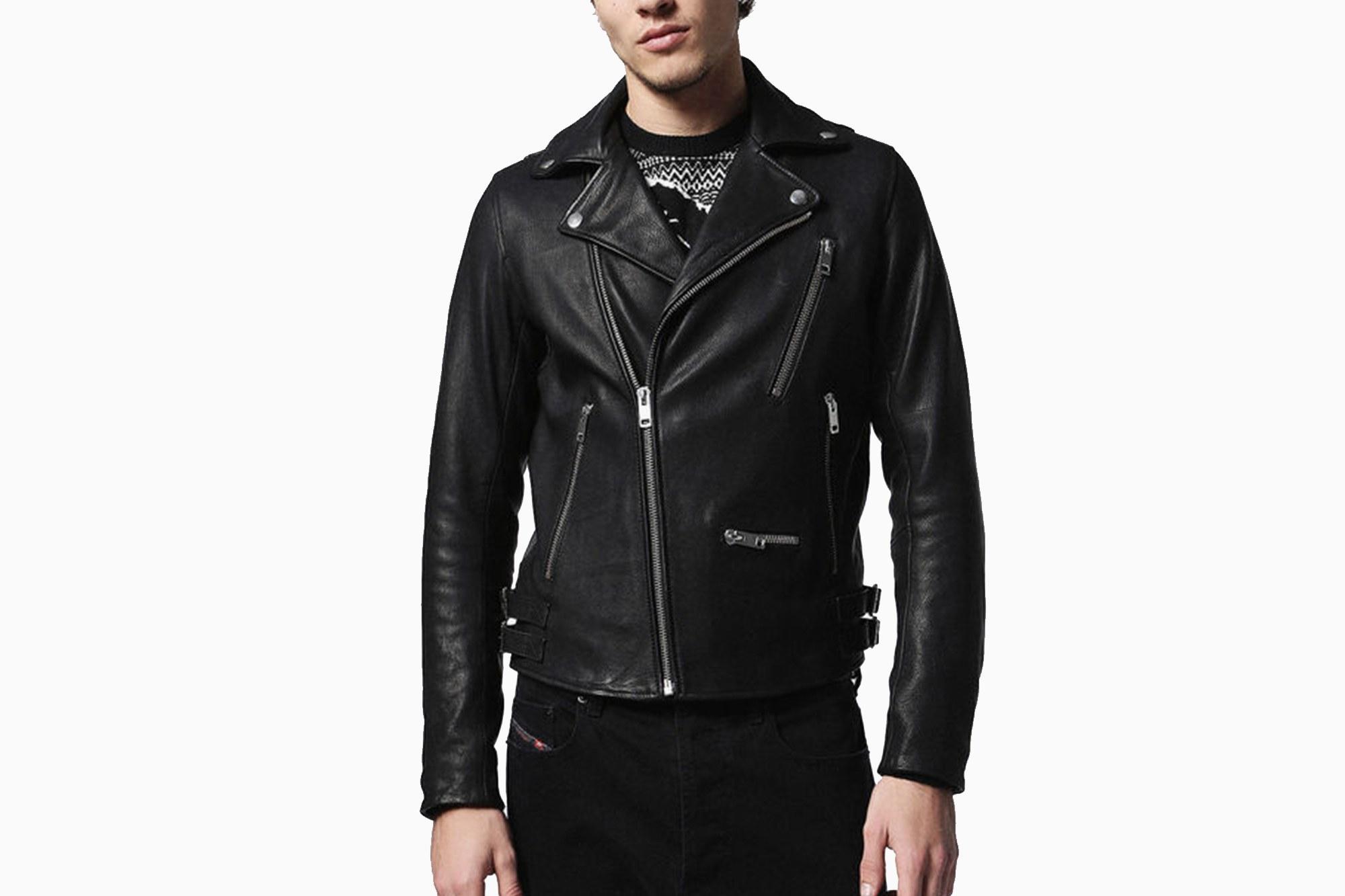 biker leather jackets diesel  IQYJCQU
