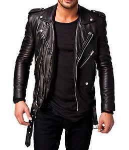 biker leather jackets image is loading men-039-s-biker-leather-jacket-black-new- LSCJJWM