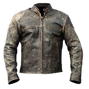 biker leather jackets image is loading mens-antique-black-vintage-distressed-retro-motorcycle- biker- AJVPPQA