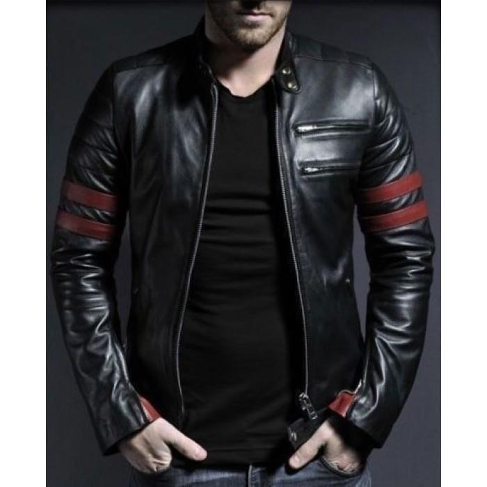 biker leather jackets waxed sheepskin fashion biker leather jacket (mj-511) SEMEUZK