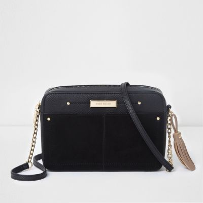 black bags black tassel boxy cross body bag YTOBGLO
