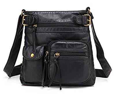 black bags scarleton accent top belt crossbody bag h183301 - black RKWSGKB