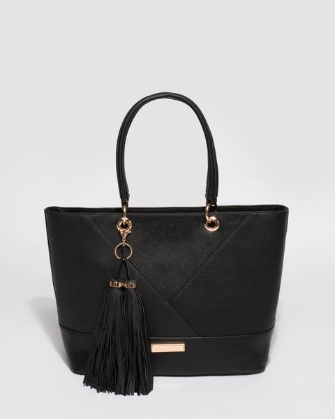 black bags tahlia tassel tote ... QAFZZTT