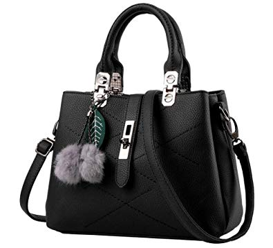 black bags yaancun womens soft leather handbags multicolor shoulder bag travel totes  black UMWNSNB