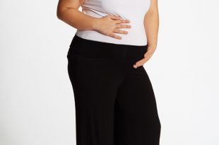 black basic plus size palazzo pants XWFQABX