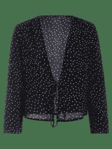 black blouses ... bow tied star blouse ... XWUMDEK