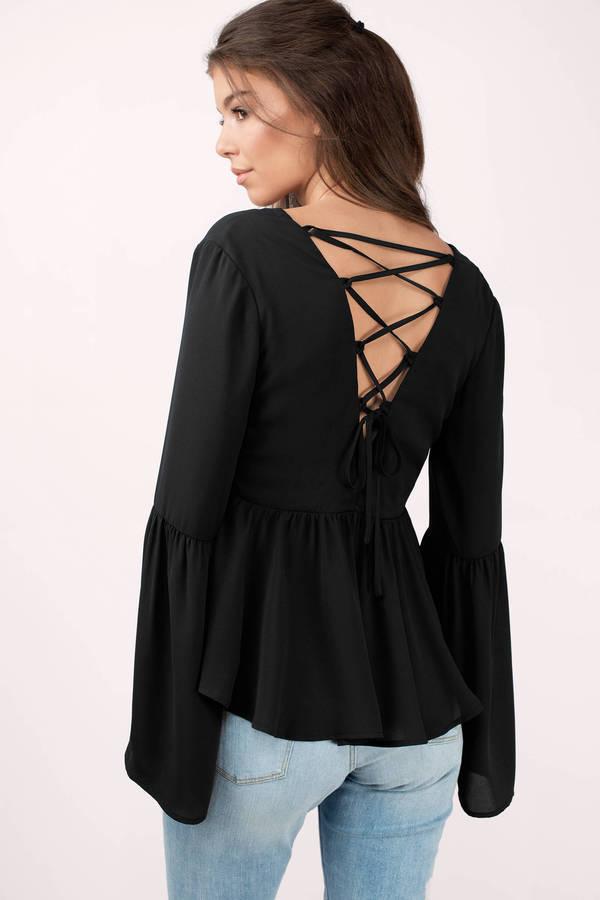 black blouses kalista black blouse ... POYEKRU