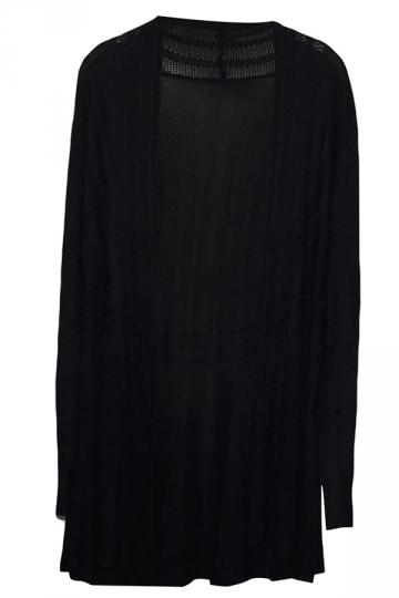 black cardigan sweater black long sleeve charming womens plain cardigan sweater GCRUQZJ