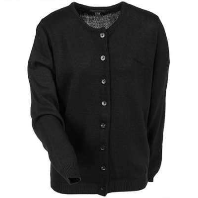 black cardigan sweater edwards garments sweaters: womenu0027s black 220-010 jewel neck cardigan KIQCYDF