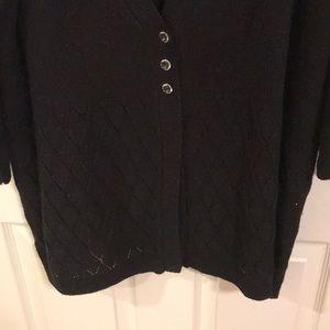 black cardigan sweater lane bryant sweaters - lane bryant black glitter cardigan sweater RHYFVIU