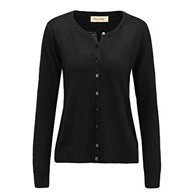 black cardigan sweater panreddy womenu0027s wool cashmere classic cardigan sweater s black QMKYXTZ