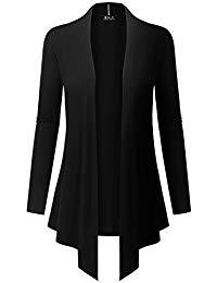 black cardigans bily womenu0027s open front drape hem lightweight cardigan QPPMDMS