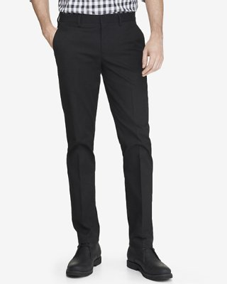 Black Dress Pants extra slim black cotton dress pant | express VDONIFB