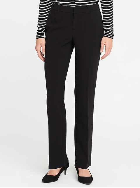 Black Dress Pants mid-rise harper full-length pants for women NOQDMWH