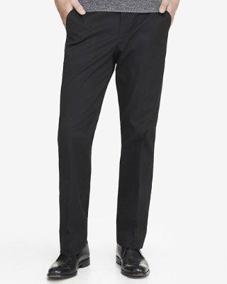 Black Dress Pants relaxed stretch cotton black dress pant | express RNGLFWQ