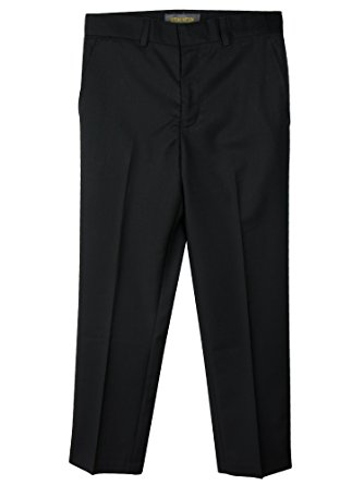 Black Dress Pants spring notion boysu0027 flat front dress pants 2t black WGCGYAM