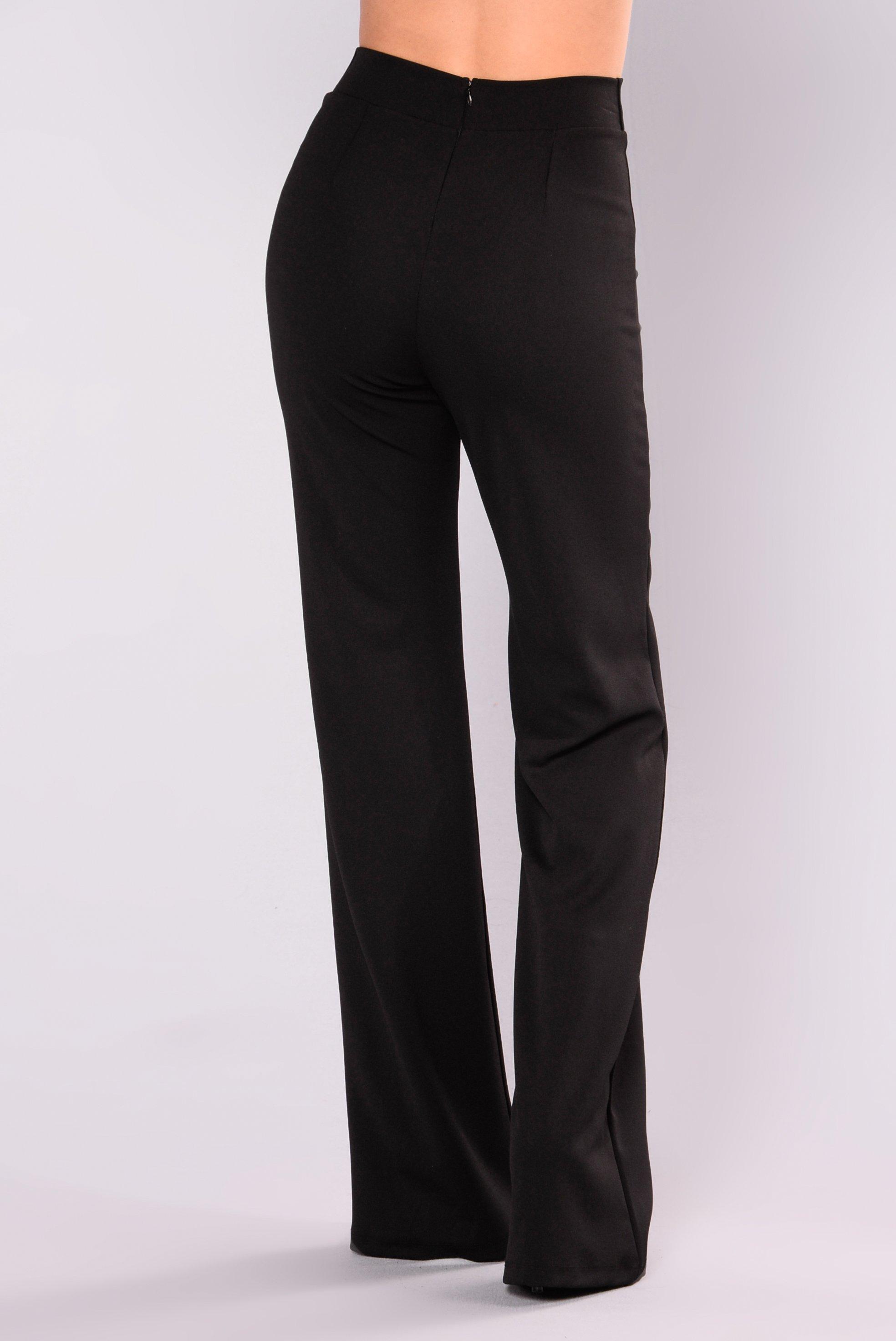 Black Dress Pants victoria high waisted dress pants - black LGBHKPO