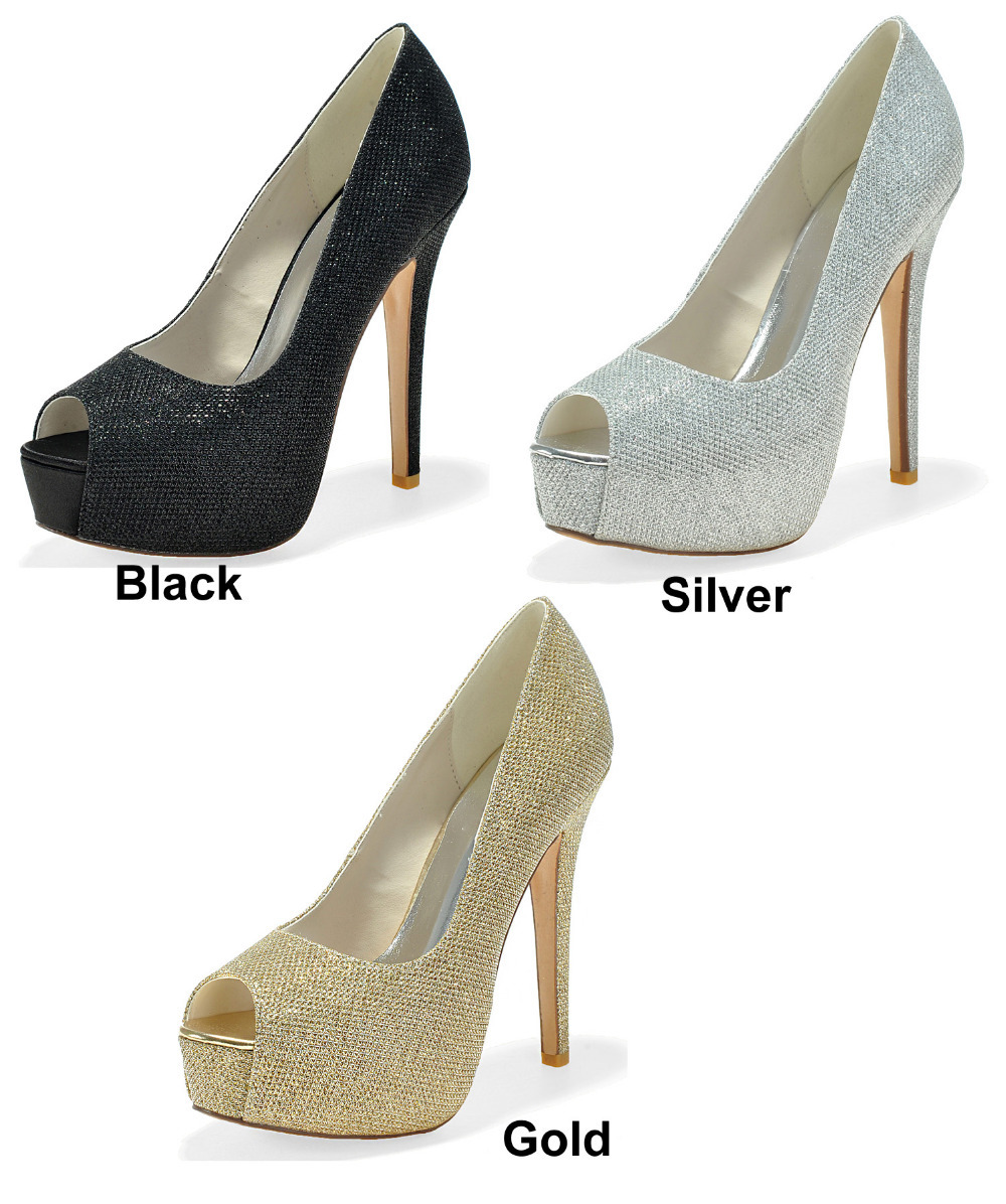 black glitter heels creativesugar ladies platform high heel dress shoes gold silver black  glitter pumps wedding open GSNVBIQ