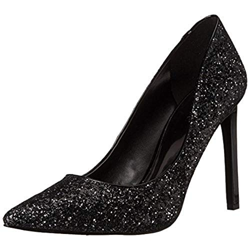 black glitter heels nine west womenu0027s tatiana synthetic dress pump, black glitter, 10.5 m us AYKPMBV