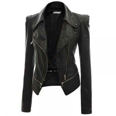 black jackets for women women black asymmetrical leather jacket LWXXWUR