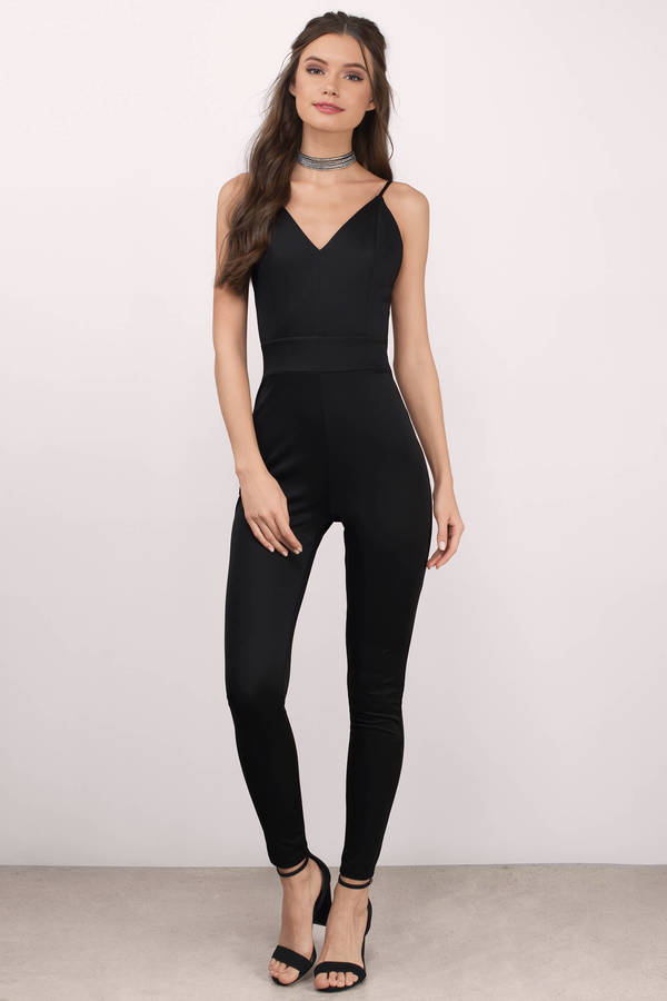 black jumpsuits mandy black knitted jumpsuit ... OUWLDPD