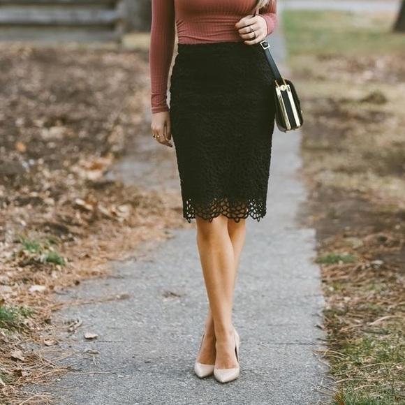 black lace skirt banana republic black lace pencil skirt OMOHPOD