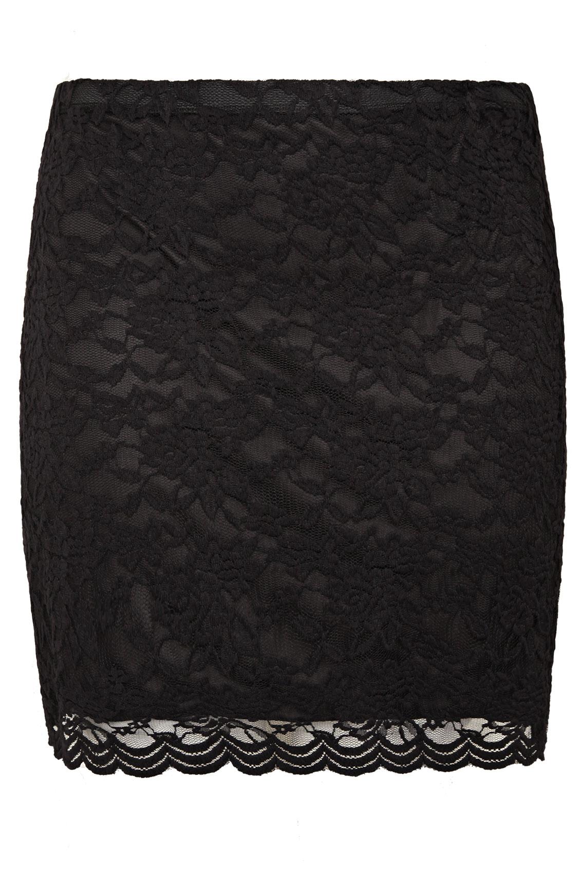 black lace skirt black lace pull on short stretch skirt YSVOBSH