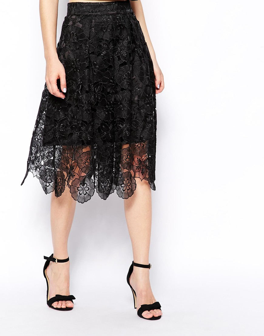 black lace skirt gallery OYJLMFU