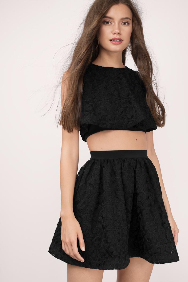 black lace skirt wild child black lace skater skirt NECJODH