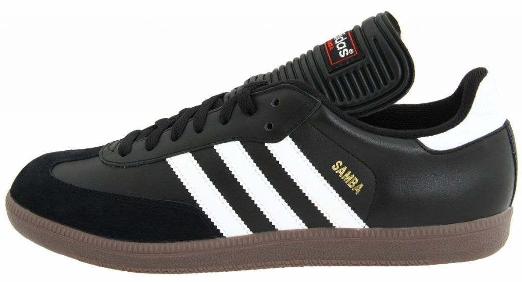 black leather adidas samba trainers WOMLJHC