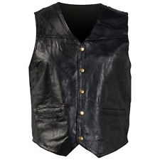 black leather vest item 2 new mens black genuine leather vest motorcycle biker fully lined  pocket mc JCMGZET