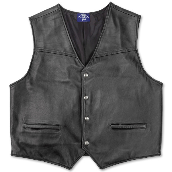 black leather vest more views VZNWTIH