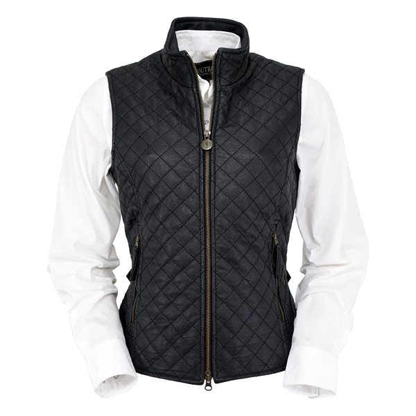 black leather vest womenu0027s bunbury quilted leather vest OHKDQZM