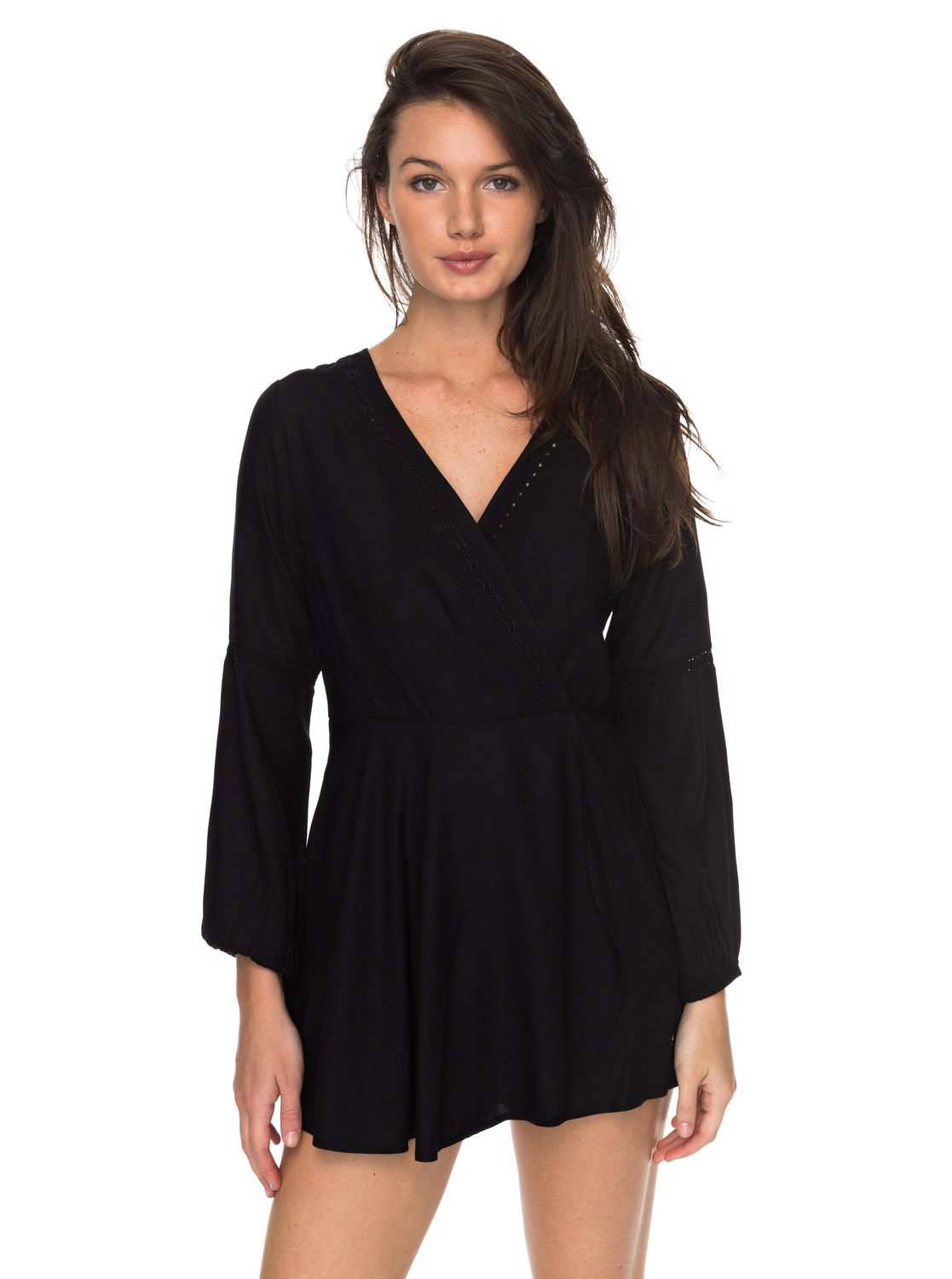 black long sleeve romper 0 twilight adventure long sleeve romper erjwd03178 roxy FZFQODC