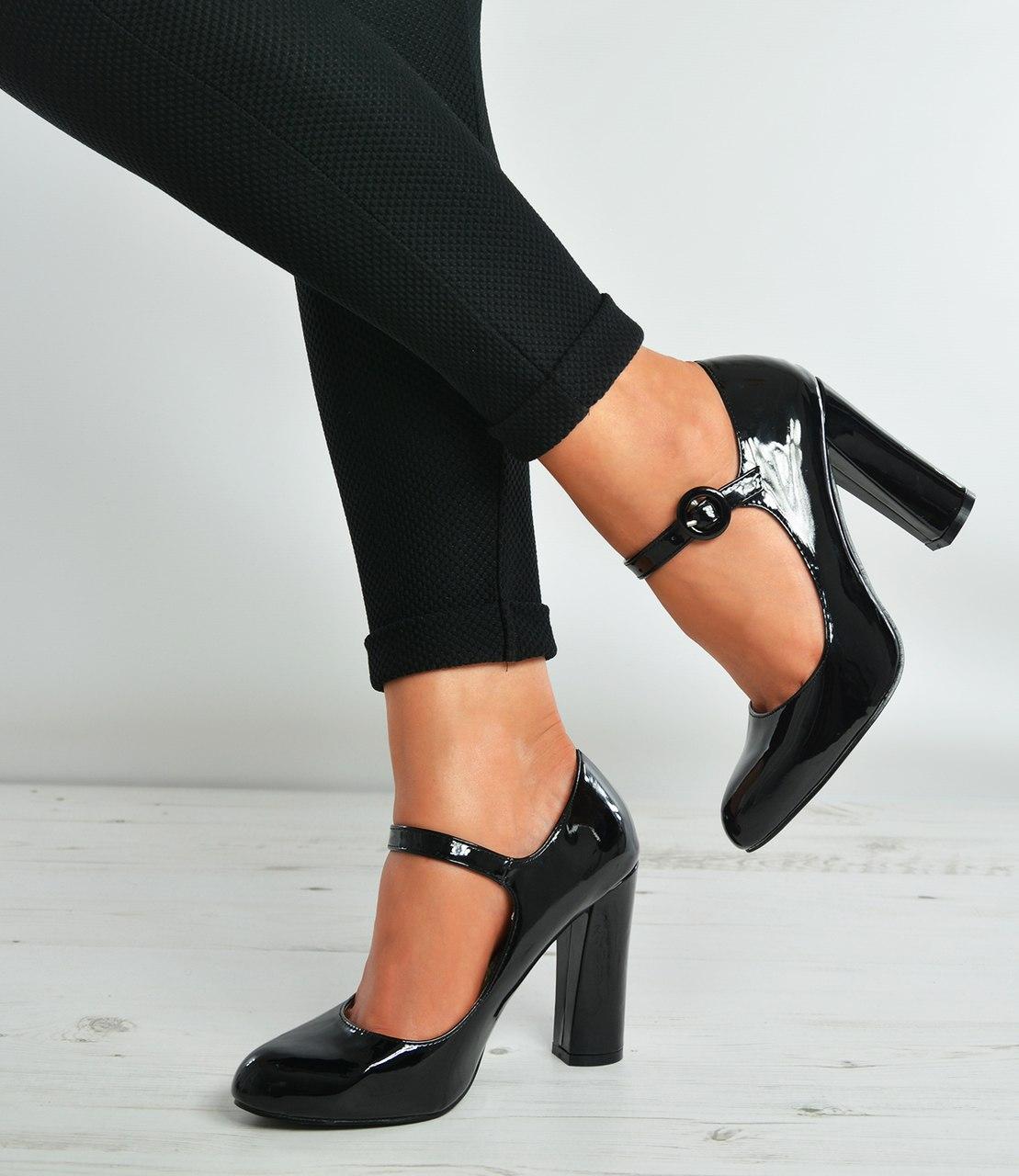 black patent heels black patent block heels court pumps YQZEDDB