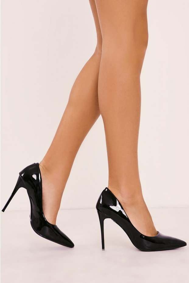black patent heels verni black patent court heels UYEVXOC