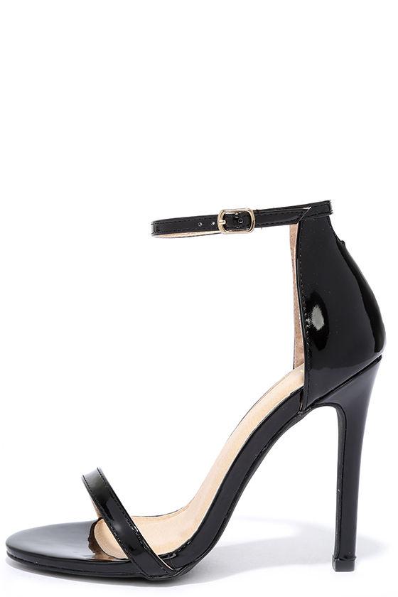 black patent heels vip ticket black patent ankle strap heels YSGZIKL
