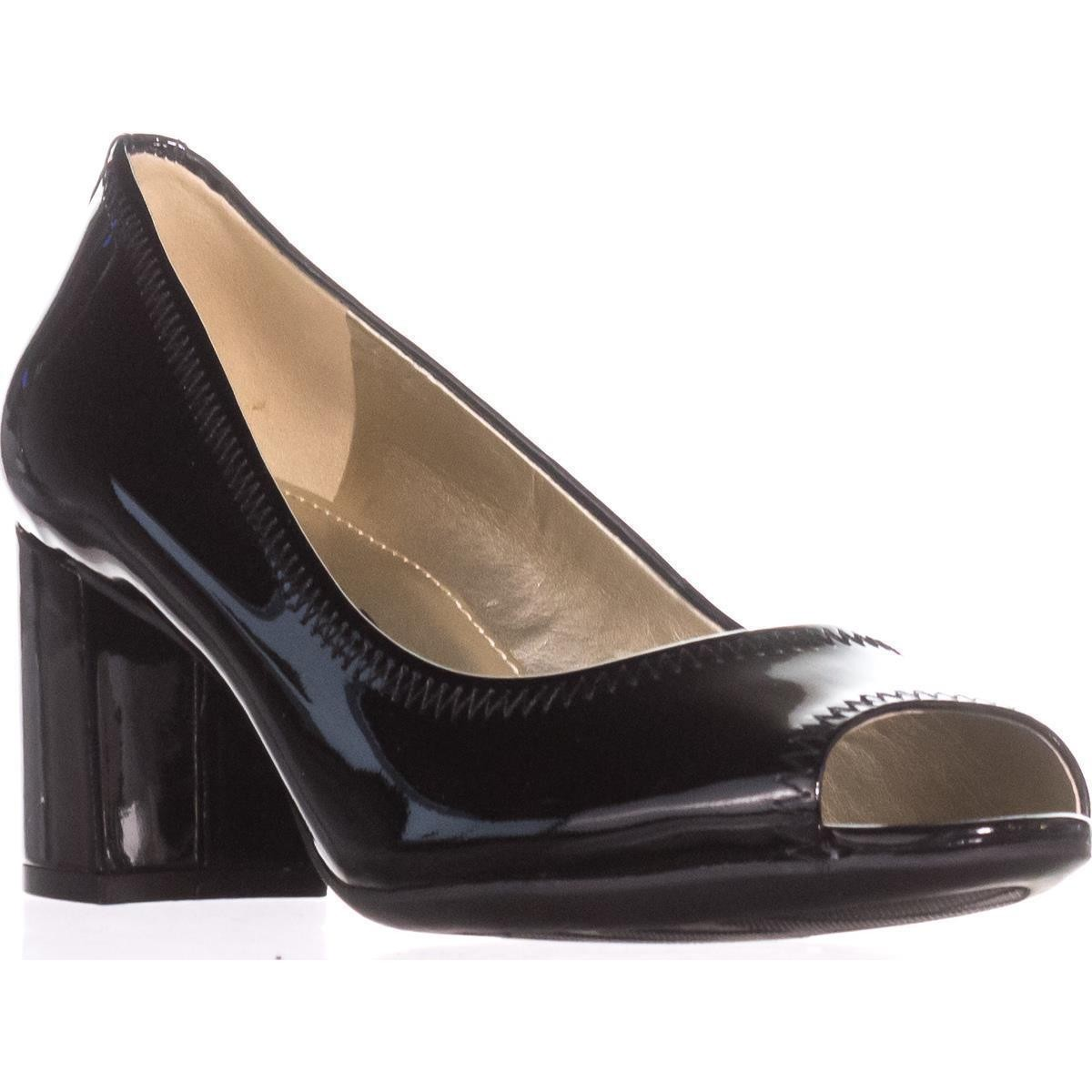 Black Peep Toe Pumps anne klein meredith peep-toe pumps, black patent EWGBPLB