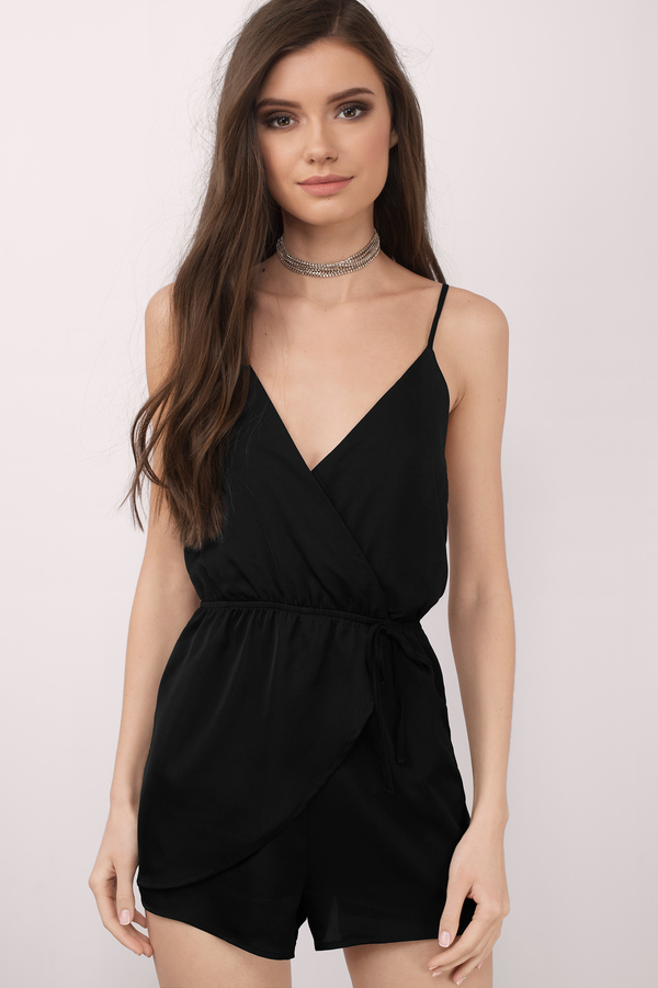 black rompers keeley black romper ... KARVATR