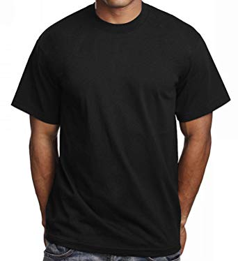 Black Shirts 6 pack menu0027s plain black t shirts pro 5 athletic blank tees (s - small CXHGIJE