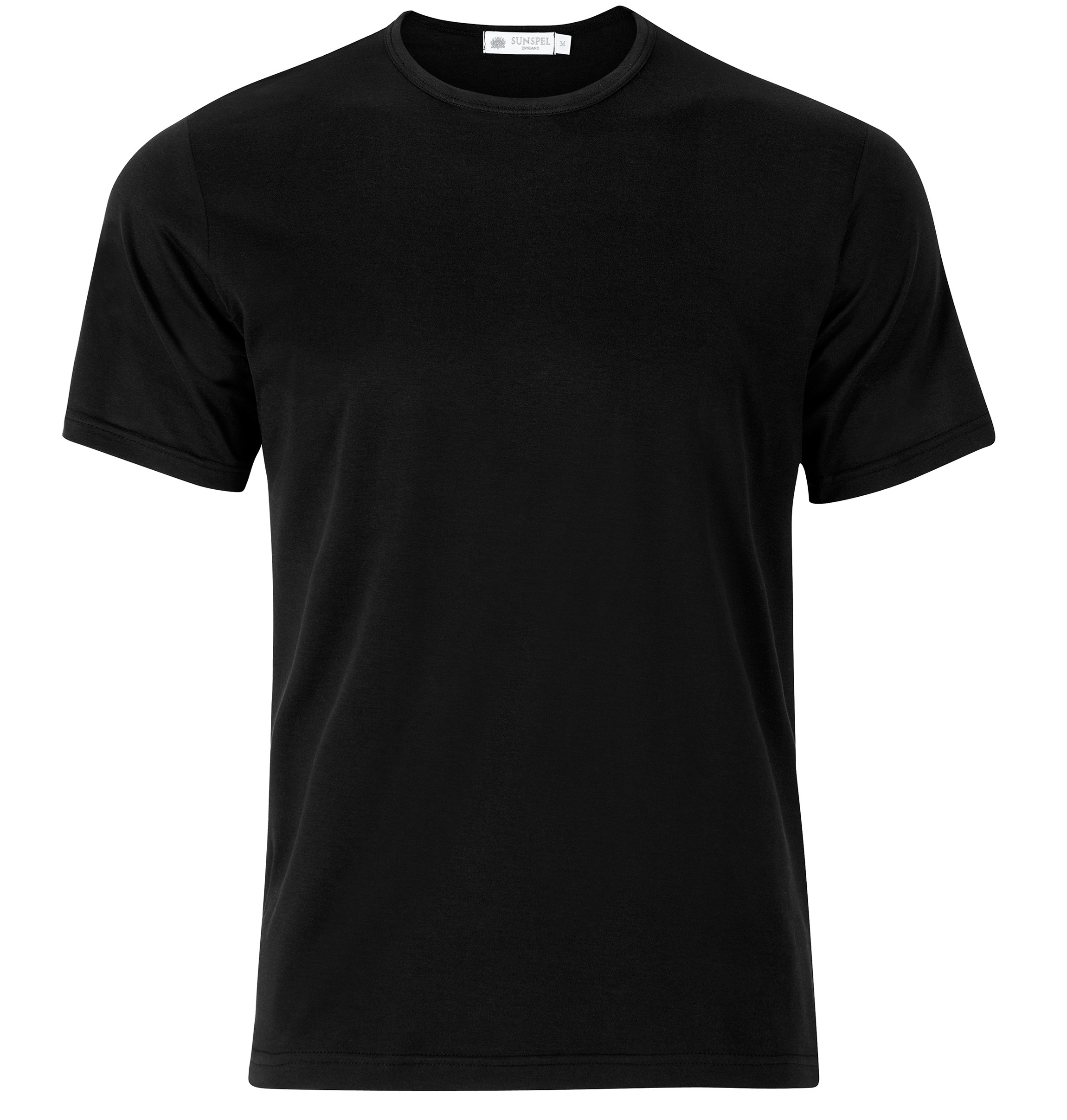 Black Shirts menu0027s superfine cotton t-shirt in black FGOMNNR