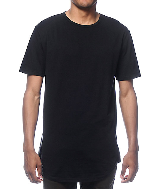 Black Shirts zine tall scoop black long t-shirt ... NBJXVZP