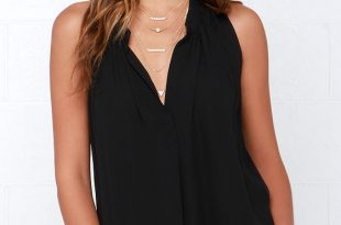 Black sleeveless top ladies who brunch black sleeveless top OLGFJVG
